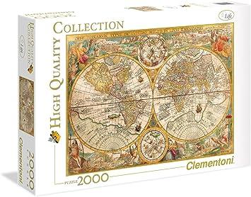 Clementoni - Puzzle 2000 Piezas Mapa Antiguo (32557): Amazon.es: Juguetes y juegos