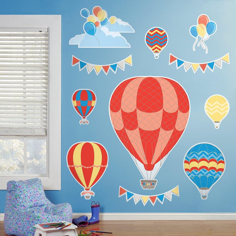 amazon com hot air balloon room decor giant wall decals toys amazon com hot air balloon room decor giant wall decals toys games
