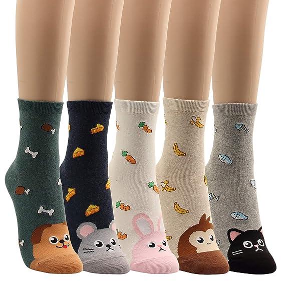 Amazon.com: Calcetines de algodón para mujer con comida ...