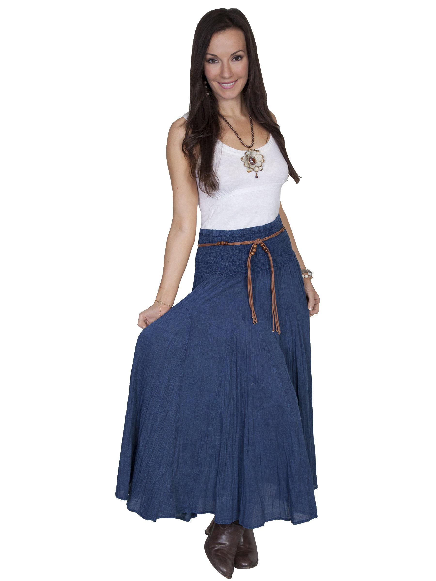Scully Full Length Skirt - Dark Blue