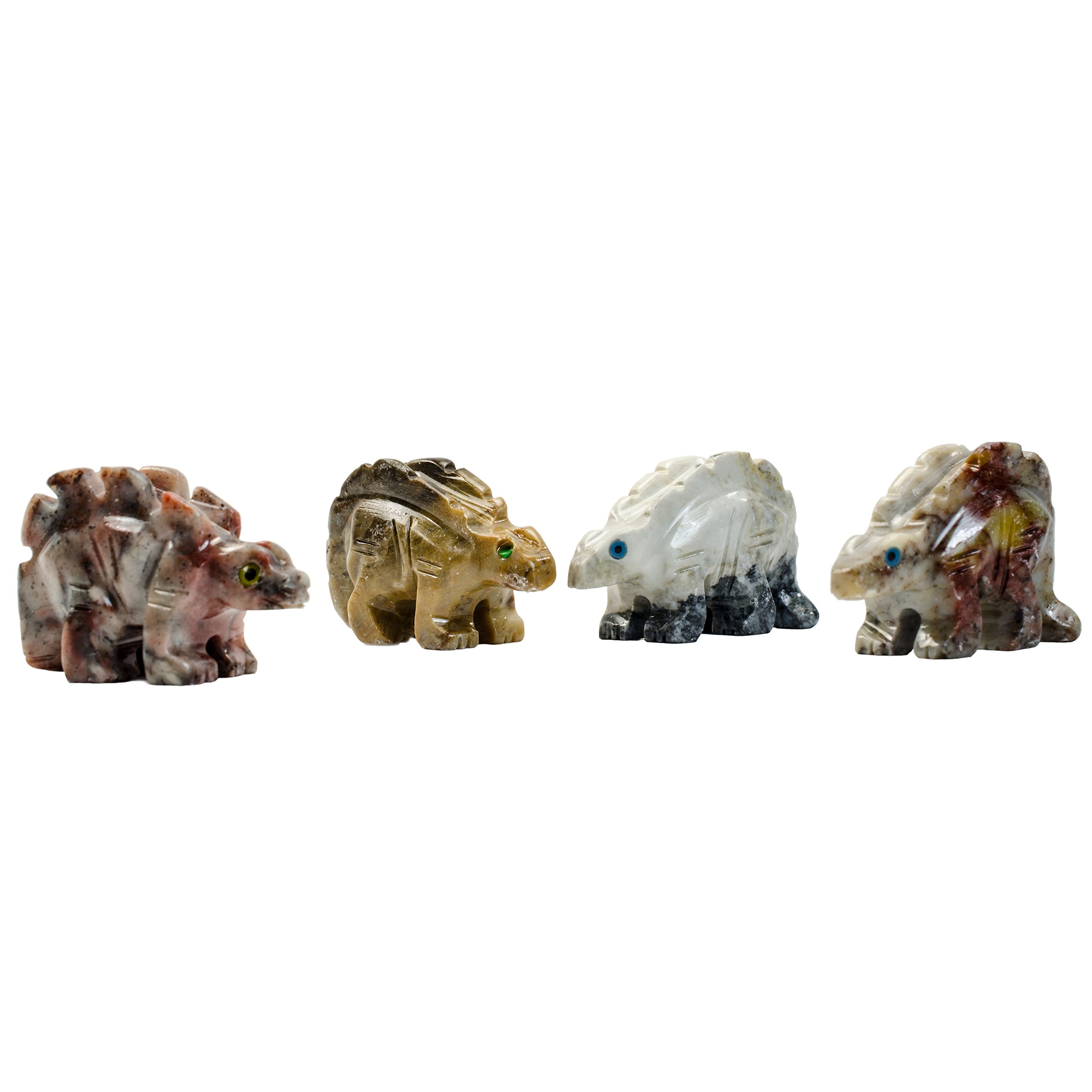 Digging Dolls : 10 pcs Artisan Stegosaurus Collectable Animal Figurine - Party Favors, Stocking Stuffers, Gifts, Collecting and More!
