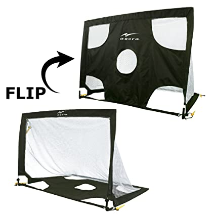 603ff3655 Amazon.com : AGORA 2 in 1 Pop-Up Goal with Bag Black/White, 36 x 48 ...