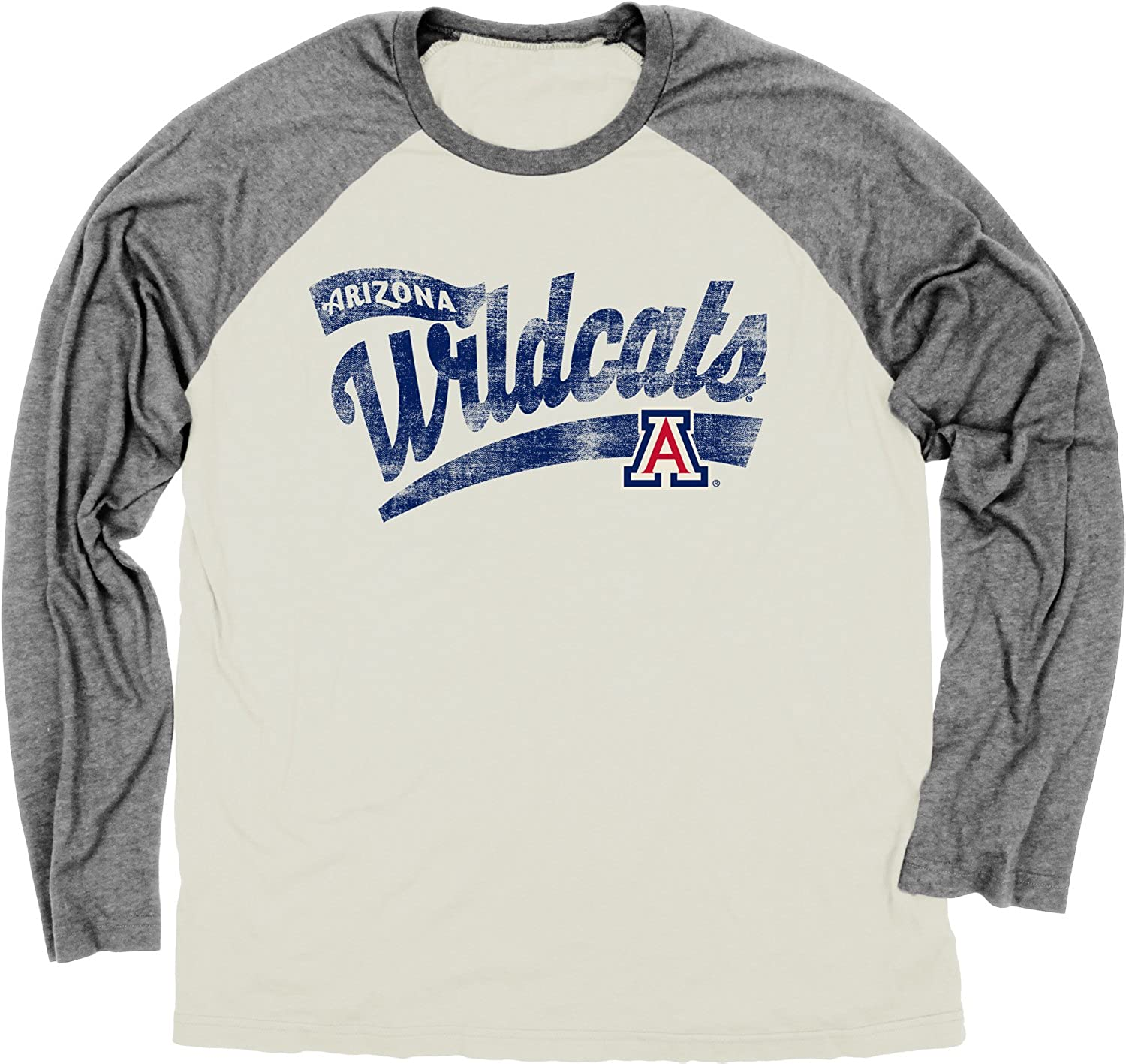 Blue 84 Adult Unisexs NCAA Mens Dyed Long Sleeve Raglan