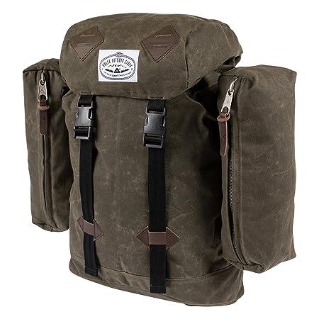 POLER Bag Retro (Classic) Rucksack, 46 cm, 18 L, Waxed Burnt Olive