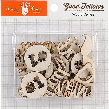 fancy pants good fellows wood veneer embellishments words shapes