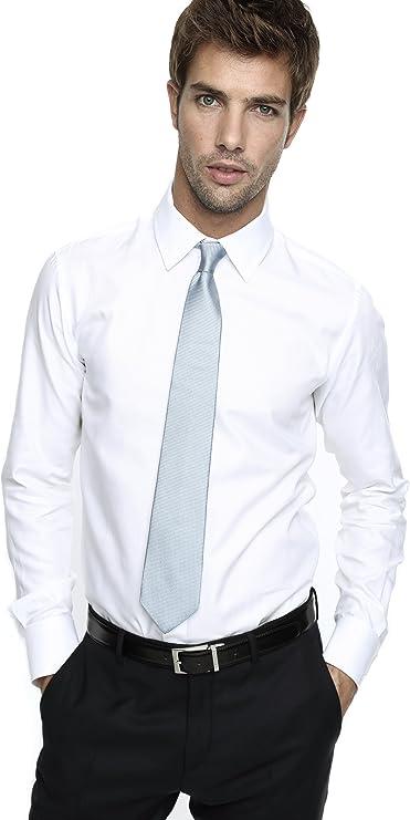 Caramelo, Camisa Ceremonia Slim Con Cuello Inglés, Hombre · Blanco Optico, Talla 58: Amazon.es: Ropa y accesorios