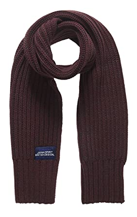 SUPERDRY Men's Super Cable Scarf, Purple (Port/Dark Marl Twistydh), Taglia