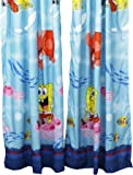 2pc Catch Me Spongebob Squarepants Long Curtain Set