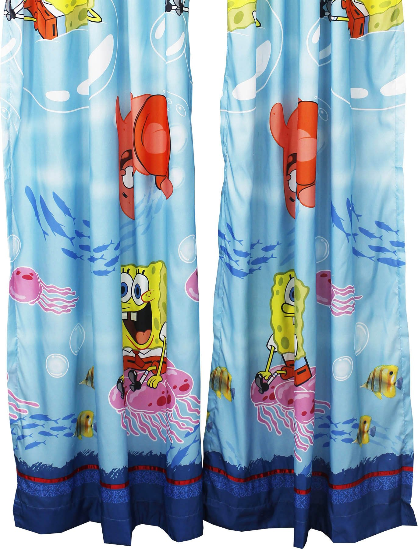 2pc Catch Me Spongebob Squarepants Long Curtain Set