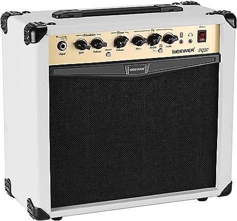 Neewer Amplificador guitarra eléctrica de 20 vatios combo con ...