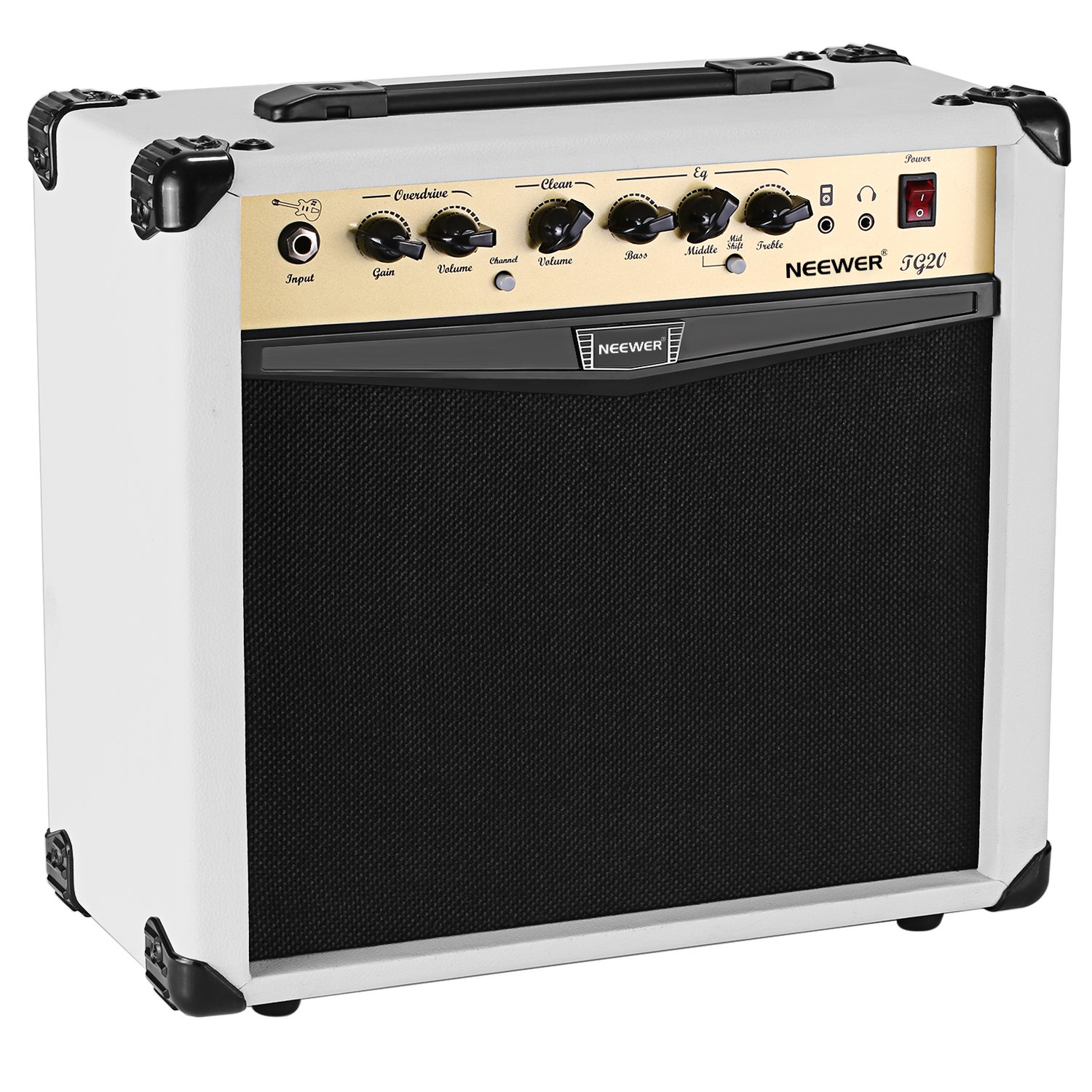 Neewer 20-Watt Electric Guitar Combo Amplifier with 3-Band EQ, 2 Channels, Ideal for Music and Guitar Lovers 40089758@@##2