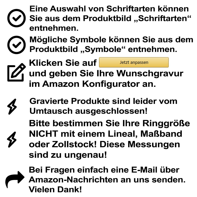 Unisex Partnerring Ehering Hochzeitsring Asilar Edelstahl 110Hac Juwelier Sch/önschmied