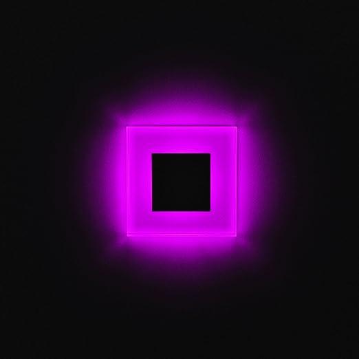 SUN-LED apliques focos LED para escaleras, escalera, corridor, luz rosa marco de cristal y aluminio