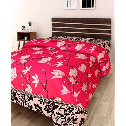 IWS 3D Printed 160 TC Polycotton Single Bedsheet   Floral, Multicolour