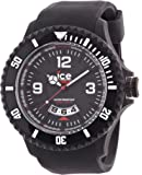 ICE-Watch - Montre homme - Quartz Analogique - Ice-Surf - Black white - Extra-big - Cadran Noir - Bracelet Silicone Noir - DI.BW.XB.R.11
