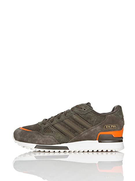 adidas Zapatillas Running ZX 750 Oak Marrón/Naranja EU 41 1/3 (UK