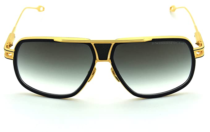 b8b5f0340c Dita GRANDMASTER FIVE 18K Gold w  Navy Frame Unisex Sunglasses DRX-2077-B   Amazon.co.uk  Clothing