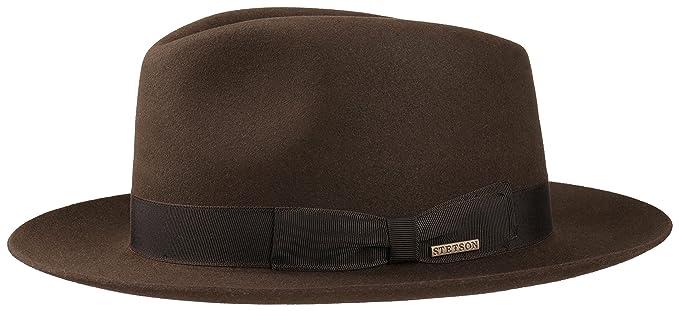 Stetson 211 Virginia   Penn Furfelt - Sombrero Fedora para hombre - marrón   Amazon.es  Ropa y accesorios 15de679b06c