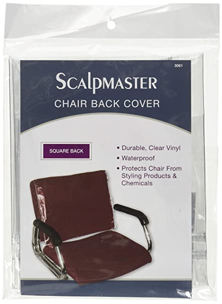 Magnificent Scalpmaster Square Chair Back Cover Transparent Vinyl Pack Of 1 Interior Design Ideas Clesiryabchikinfo