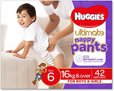 Huggies Ultimate Nappy Pants, Unisex, Size 6 (16+kg), 42 Count
