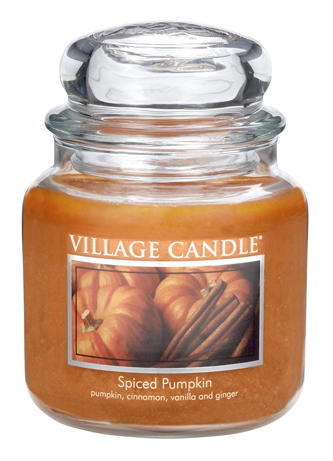 Village Candle Spiced Pumpkin 11 oz Glass Jar Scented Candle, Small Inc. 106011316