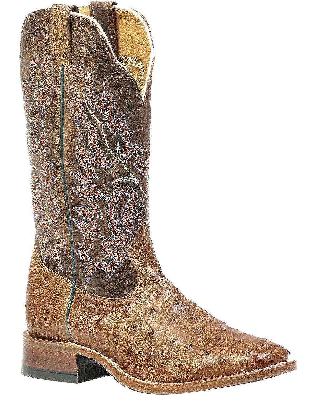 - Soul Rebel Stiefel Amerikanischen – Cowboystiefel Exotische Schlangenhaut (Strauß) bo-1503 – 65-e (Fuß Normal) – Herren – Braun