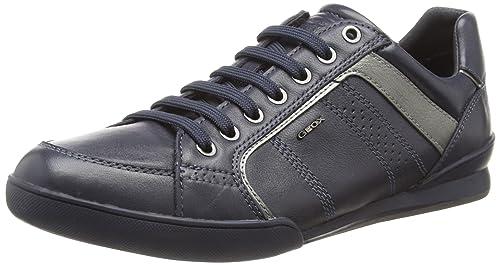 Geox U Kristof A, Men's Low-Top Sneakers, Blue (Navy/guncf41g