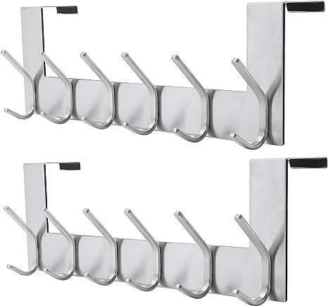 6-Hooks Over Door Hanger Coat Rack For Hanging Clothes Dseap Over The Door Hook