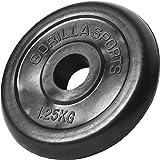 GORILLA SPORTS® Hantelscheiben-Set/Einzeln Gummi - 1,25-25 kg Gewichte mit 30/31 mm Bohrung