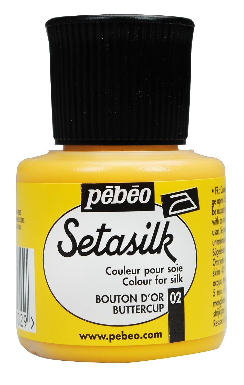 Pebeo 45 ml Setasilk Silk Painting Bottle, Butter Cup 181-002
