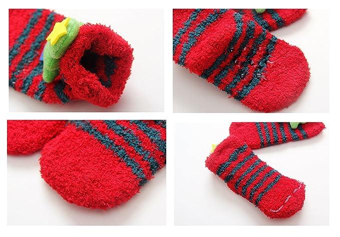 Amazon.com: LIUCHENGHANG Christmas Baby Socks 5-Pack Warm Crew Sock Cute Cartoon Gift 1-2 years: Clothing