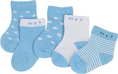 DEBAIJIA Cinq Paires Chaussettes B/éb/é Enfant 0-10 Ans Gar/çon Fille Adolescents Coton Pur Doux Color/ée