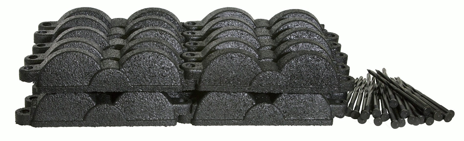 Valley View Industries 20 ft., 12 in. Pieces Black Rubber Edging