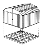 Arrow FDN1014 Storage Shed Base Kit for