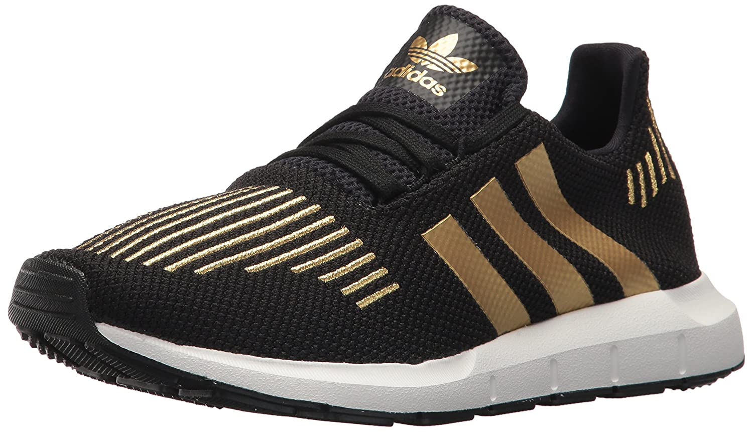 adidas Originals Women's Swift Run W B06XPG9BQS 10.5 B(M) US|Black/Gold Metallic/White