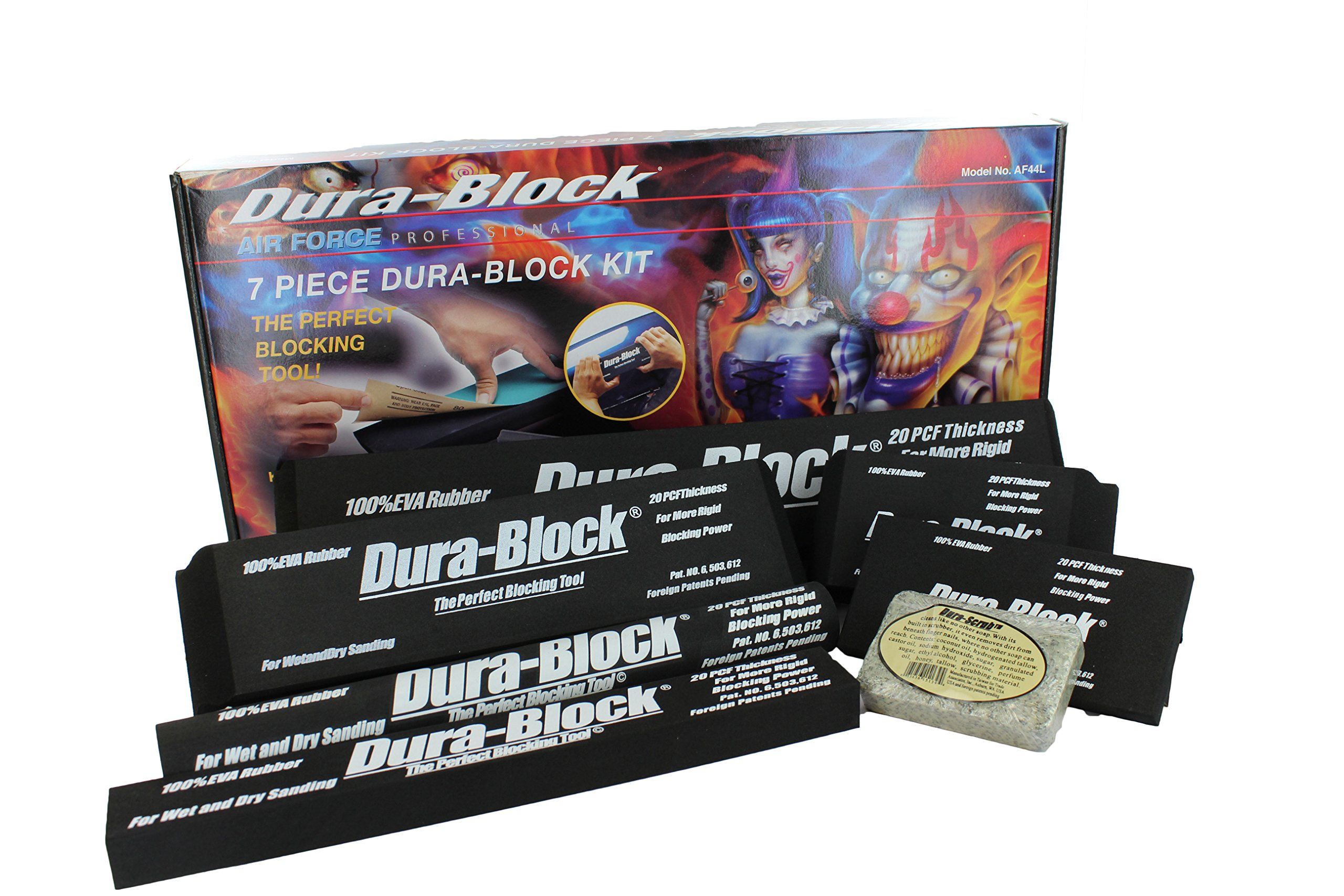 Trade Associates AF44L 7 Piece Dura Block Sanding Kit