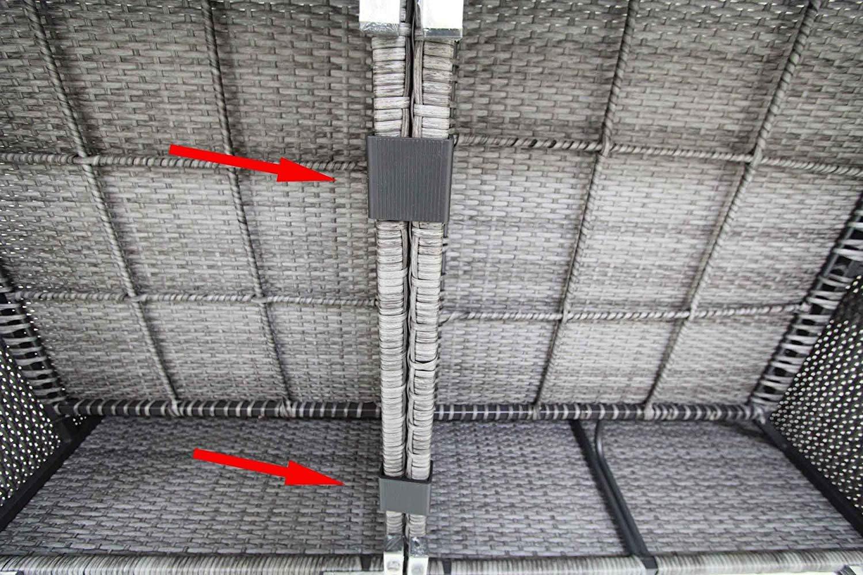 para alineaci/ón de sof/á de varios cuerpos Small conectores Abrazaderas Pack de 10/sujetadores para muebles de patio de mimbre