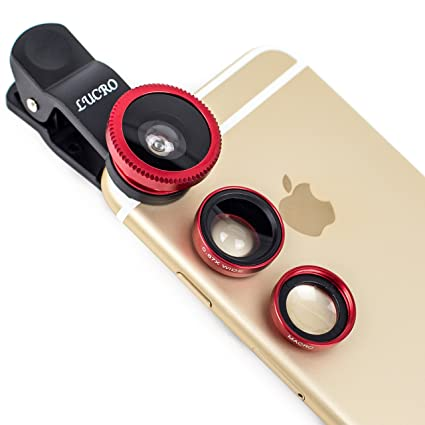 LUCRO Universal Clip On Cell Phone Camera Lens 3 in 1