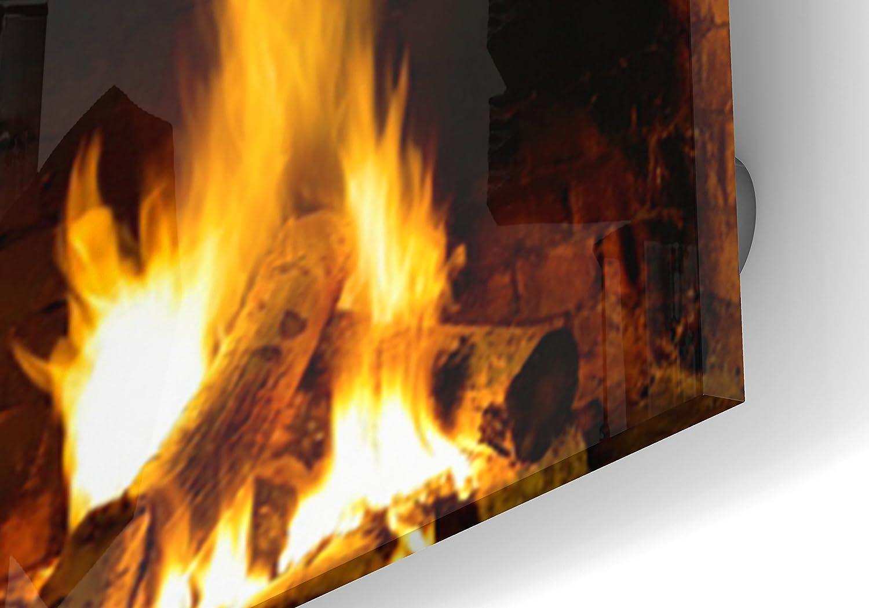 Impression Murale/® 70 cm Fond de hotte cr/édence de cuisine en Panneau composite aluminium avec fixation adh/ésiveFeu dans four /à pain L 60 x H Epaisseur 3 mm