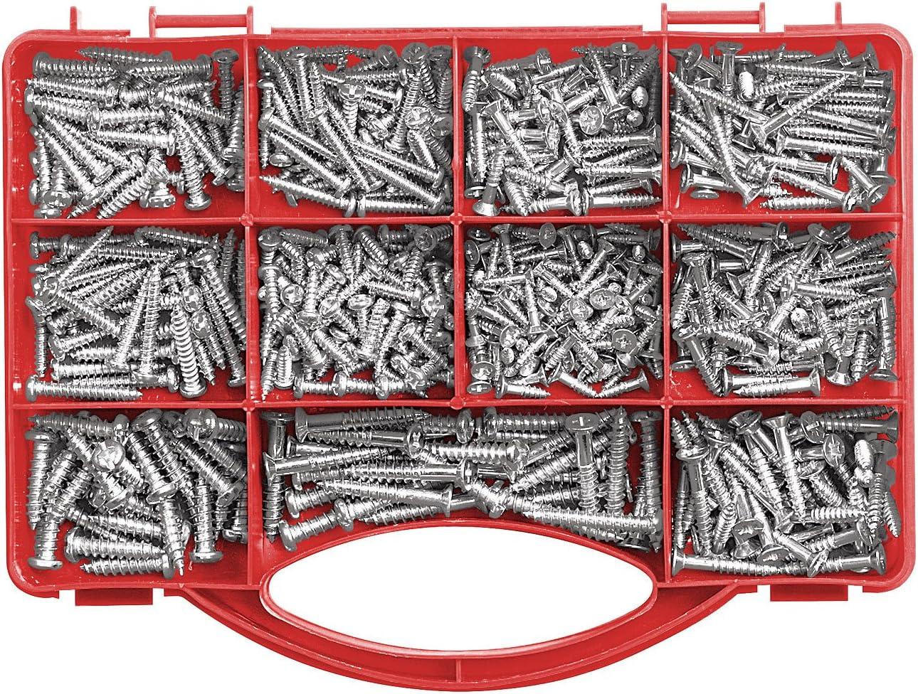 Set de tornillos, 500 unidades: Amazon.es: Bricolaje y herramientas
