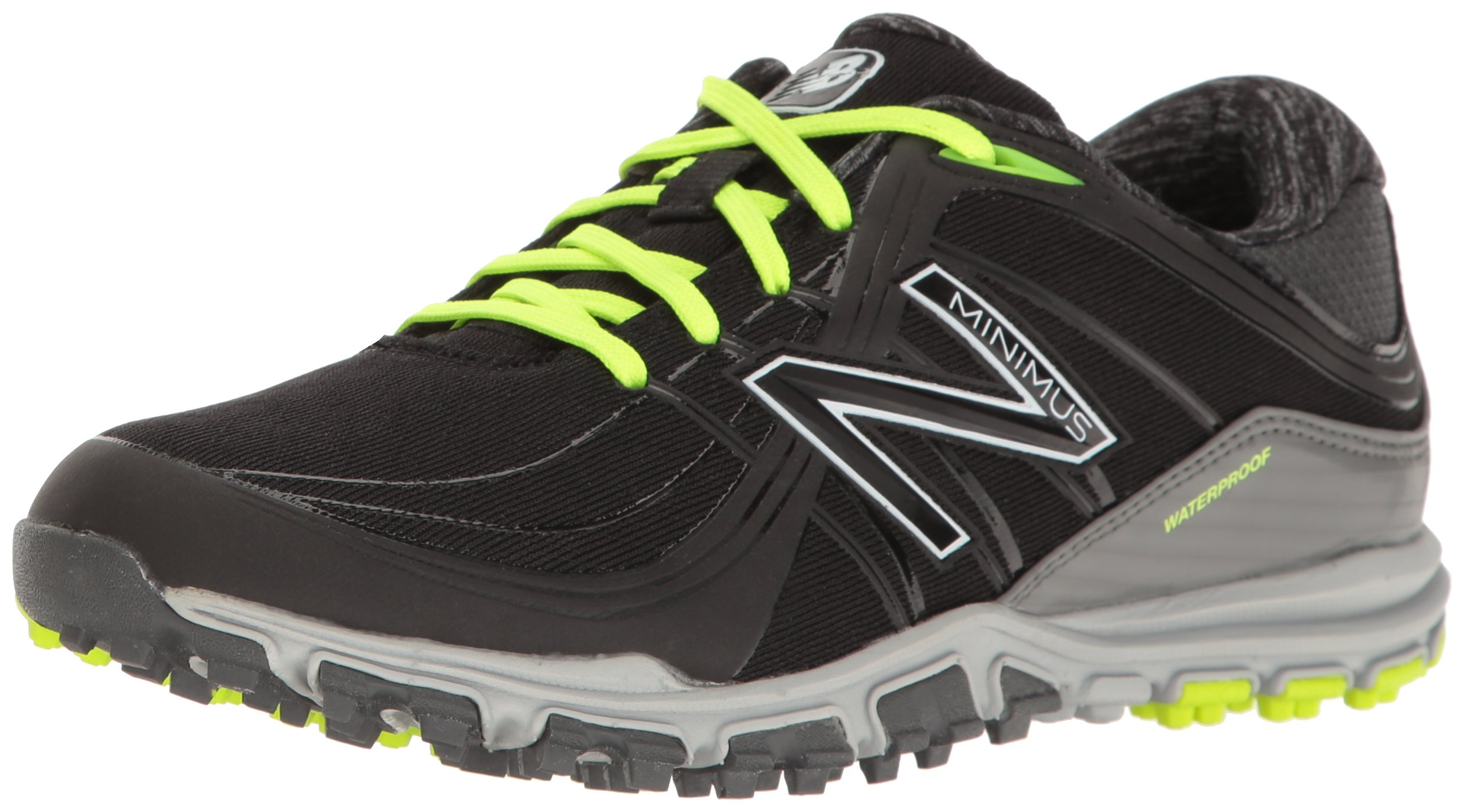 New Balance Women's nbgw1005 Golf Shoe, Black/Lime, 8 B US