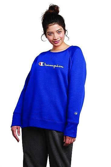 low price incredible prices official supplier Champion Women's Plus Size Fleece Crew Sweatshirt Sweater ...