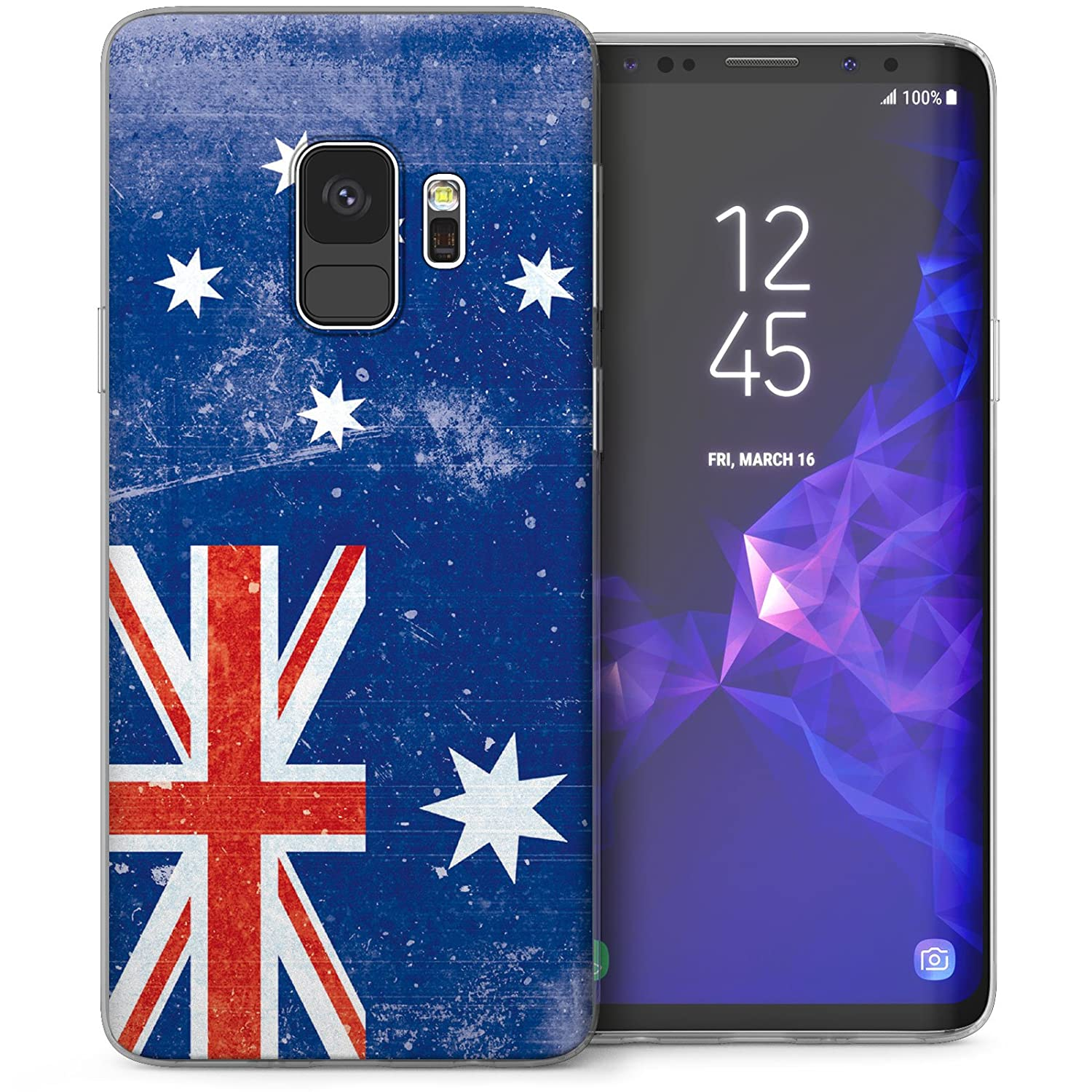 more photos c31d8 a0432 Caseflex Samsung Galaxy S9 Case, Retro Australia Flag Ultra Slim TPU Gel  Protection Case for the Galaxy S9 (2018) - CUV-GS9-Z179 - Blue / White / Red