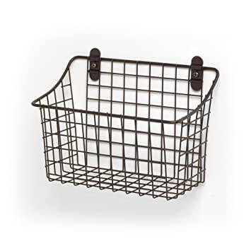 Spectrum Diversified Vintage Wall Mount Storage Basket, 10u0026quot; X 5u0026quot;  ...