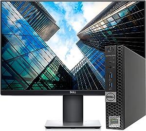 Microsoft Authorized Refurbisher- Dell Optiplex 3040 Micro Form Factor PC Intel i3-6100T 3.2GHz. 8GB DDR3 RAM,256 SSD, WiFi, with Dell 24