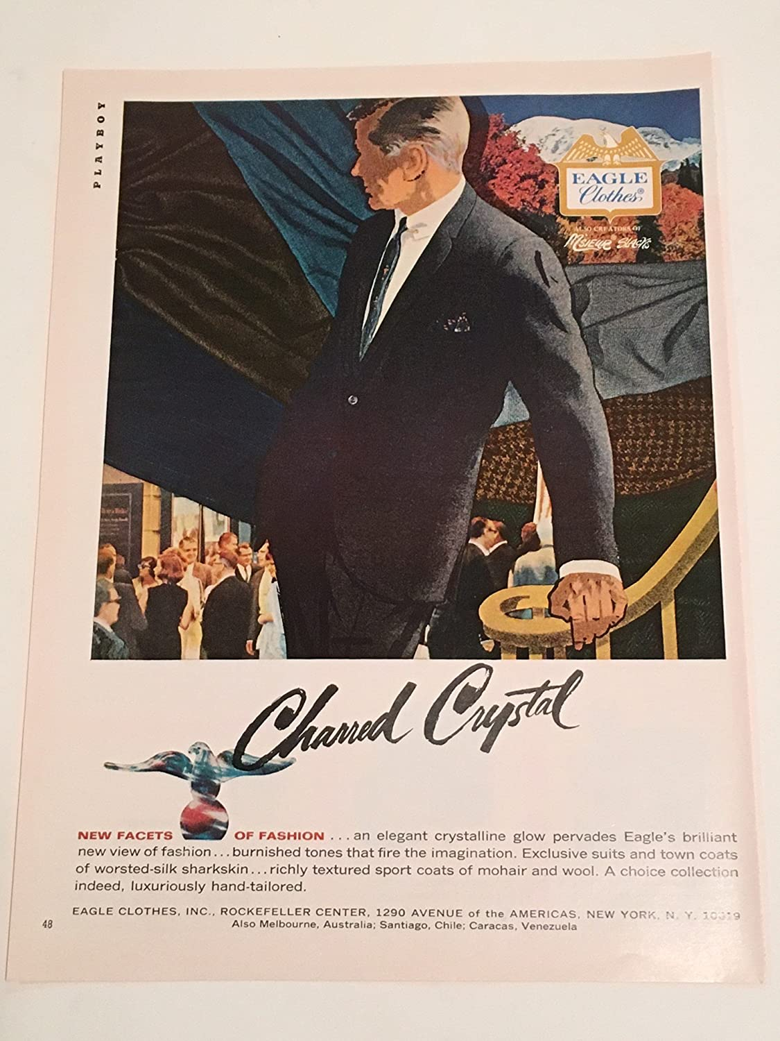 Amazon.com: 1965 Eagle Clothes Charred Crystal Mens Clothing Magazine Print Advertisement: Entertainment Collectibles