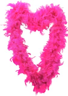 by Guaranteed4Less BURLESQUE SOFT FEATHER BOA SHOWGIRL DANCE FANCY DRESS HEN NIGHT RED BLACK WHITE Dark pink