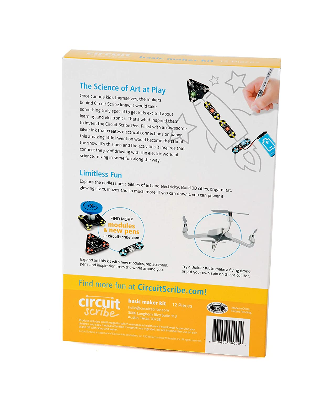 Circuit Scribe Basic Kit Includes Conductive Silver Another You Can Build That The Snap Circuits Motor Ink Pen To Learn Explore And Create Your Own Switches Toys Games