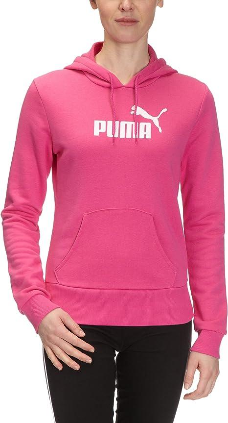 PUMA Pull à Capuche ESS avec Grand Logo en Coton Biologique