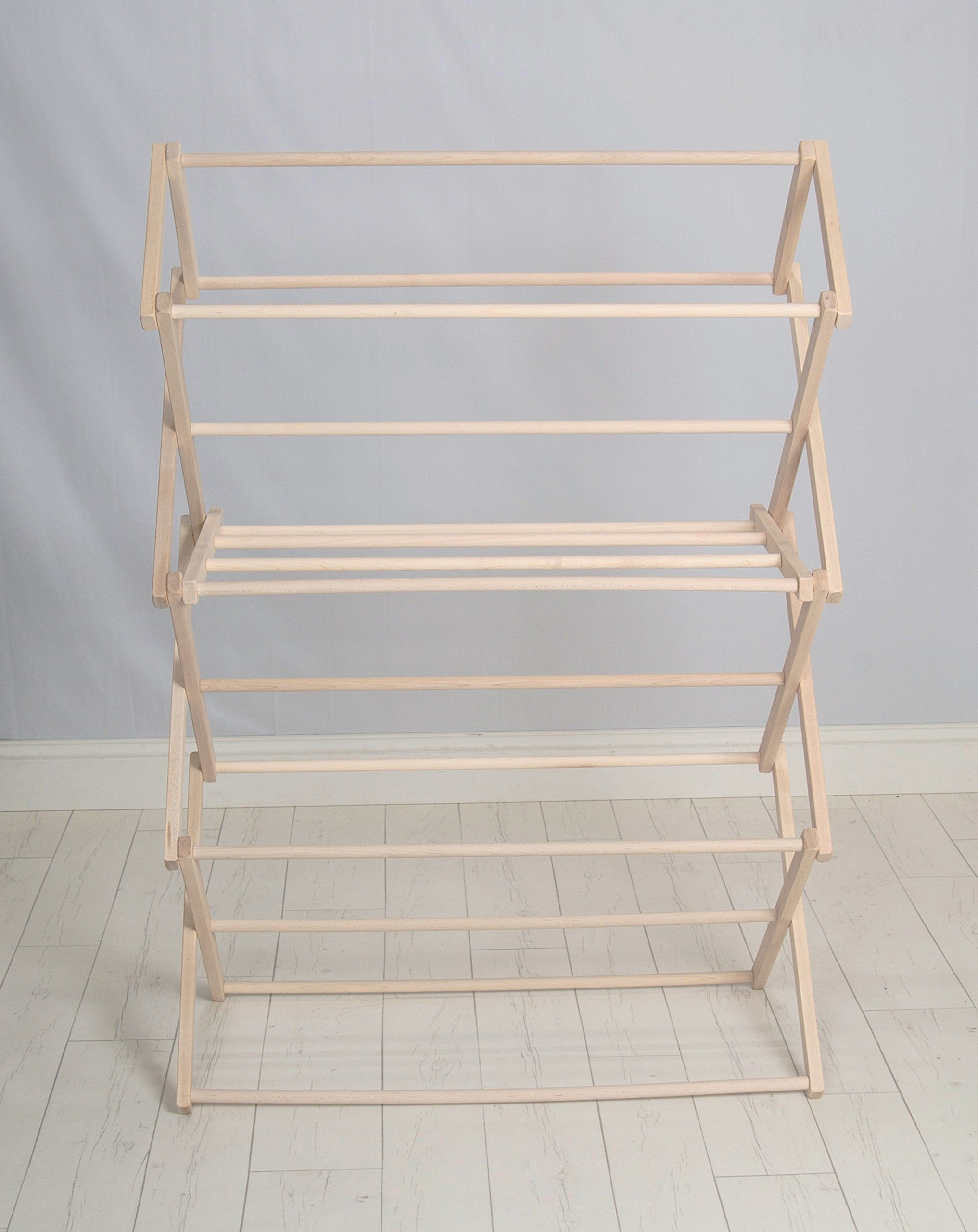 Pennsylvania Woodworks Clothes Drying Rack (Made in the USA) Heavy Duty 100% Hardwood (Large) by Pennsylvania Woodworks (Image #2)